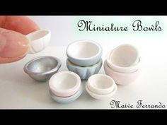 Miniature Dollhouse Bowls Tutorial