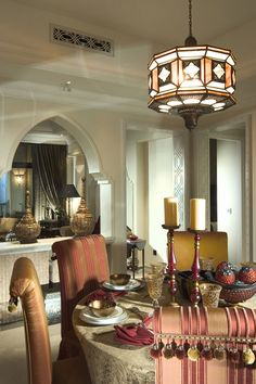 Wonderful Modern Moroccan Islamic Interiors Designs : Luxury Dining Room Modern Moroccan Islamic Interiors Design