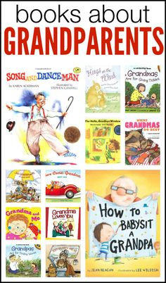 Grandparents Day is Sunday, September 7!  Here is a wonderful list of books about grandparents!  Both picture books and board books included!