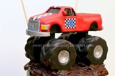 Monster Truck Cake Tutorial