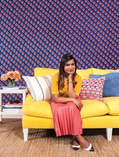 When Mindy Kaling needed an office upgrade, designer Nathan Turner swooped in to create a vibrant refuge.