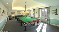 Games: One room features a snooker table for the use of the new multi-millionaire owner