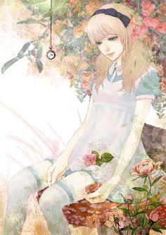 Alice in Wonderland illustration Lewis Carroll, Art And Illustration, Illustrations, Anime Manga, Anime Art, Alice Madness, Adventures In Wonderland, Wonderland Alice, Kawaii