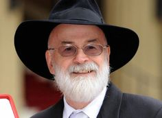 Sir Terry Pratchett, resplendent as usual. The funniest author I have ever read, and incredibly smart about his humor.