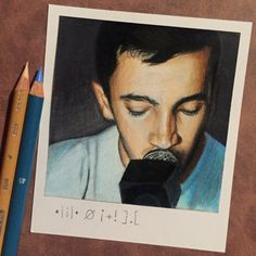 Tyler's Tattoo  Print of Polaroid Drawing by thisismyshopbye