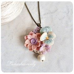 This is also tomorrow at 14, to Kichijoji PARCO Lavie. It is a necklace and brooch with anemone and pansy. As much as time permits, I would like to make a single hairpin, a ring, a pierced earring and so on. 14 o'clock - 20 o'clock Please let me speak at the shop front ♡ # Lace stitch # crochet
