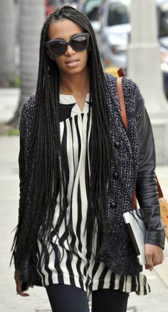 Solange you are my inspiration for box braids! (I've been toying with the idea for like 3years but you gave me the courage to just take the plunge!!!)