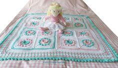 CROCHET PATTERN Halo Heart Crochet Blanket di KerryJayneDesigns