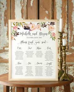Boho wedding table plan #bohowedding