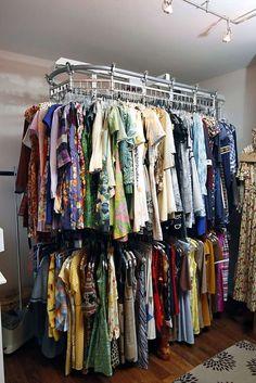 Dressing Room Closet, Closet Bedroom, Dressing Rooms, Master Bedroom, Closet Storage, Closet Organization, Closet Space Savers, Wardrobe Rail, Make A Closet