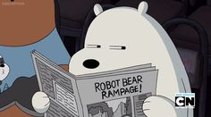 we bare bears, ice bear Bear Wallpaper, Disney Wallpaper, Cartoon Wallpaper, Ice Bear We Bare Bears, 3 Bears, Cute Funny Pics, Cute Memes, We Bare Bears Wallpapers, Cute Wallpapers