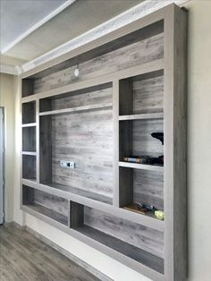Living Room Tv Wall Entertainment Center Hide Tv Ideas For 2019 Wall Mount Entertainment Center, Entertainment Room, Living Room Tv Unit Designs, Tv Wall Unit Designs, Bedroom Tv Unit Design, Bedroom Wall Units, Best Living Room Design, Small House Design, Bedroom Designs