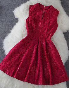 Slim Lace Sleeveless Dress