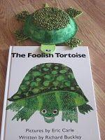 "Eric Carle Inspired ""The Foolish Tortoise"" Preschool Books, Kindergarten Art, Preschool Activities, Preschool Plans, Eric Carle, Art For Kids, Crafts For Kids, Daycare Crafts, Classroom Crafts"