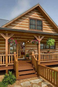 Fotos de decoração de casas de madeira