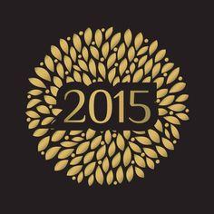 """Cartes de voeux - modèle """"Black Gold"""" 2015 (or à chaud sur papier Antalis Keaykolour Original Jet Black Ebene 300g) © COPY-TOP"""