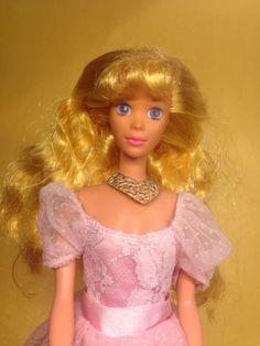 162708db59ec Disney Barbie Aurora Sleeping Beauty Dornröschen, Mattel, Vintage, rar,  1990er