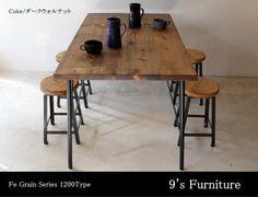 ダイニングテーブル アイアン脚 DT-ir-150   iichi(いいち)  ハンドメイド・クラフト・手仕事品の販売・購入