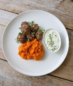 lindastuhaug - lidenskap for sunn mat og trening Tzatziki, Curry, Healthy Recipes, Healthy Food, Food And Drink, Dinner, Ethnic Recipes, Healthy Foods, Dining