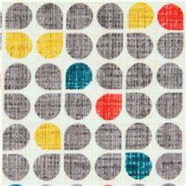 white gray trefoil clover pattern fabric by Michael Miller
