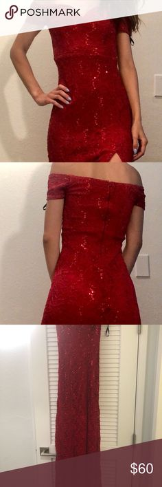 NWT WINDSOR $75 Black Red Prom Party Cocktail Dress 5