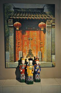 Azië, schilderij i.c.m. de poppen