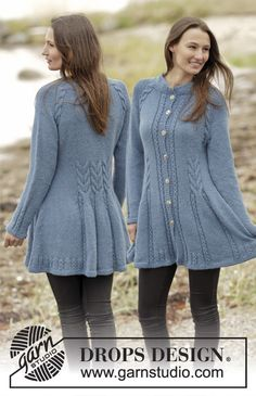 Knitted fitted jacket with cables