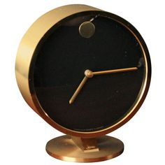 Vintage Mid-Century George Nelson Desk Clock | From a unique collection of antique and modern clocks at http://www.1stdibs.com/furniture/more-furniture-collectibles/clocks/