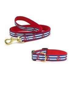 Look at this #zulilyfind! Anchor Dog Collar & Leash by Up Country #zulilyfinds