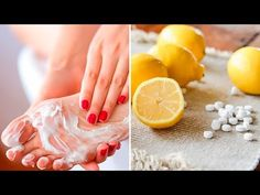 Combine Aspirin With Lemon to Remove Hard Foot Skin, Corns and Calluses - Diabetes News Headlines Hard Skin On Feet, Corn Removal, Lighten Dark Spots, Foot Remedies, Cracked Feet, Foot Peel, Best Lotion, Foot Soak, Soft Feet
