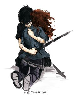 Hazel Levesque and Nico Di Angelo art by Viria, what a brother truly means