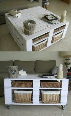 Pallet coffee table. Awesome!