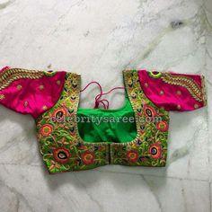 Elbow Length Blouse Designs for Silk Sarees