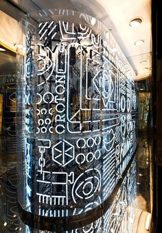 Neon installation for Oroton, a luxury accessories house by artists Craig Redman and Karl Maier. The neon contains iconography derived from Oroton products, interspersed with patterns and whimsical symbols Display Design, Store Design, Wall Design, Wayfinding Signage, Signage Design, Shop Signage, Neon Rosa, Craig And Karl, Environmental Graphic Design