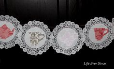 Teacup and Teapot doily banner