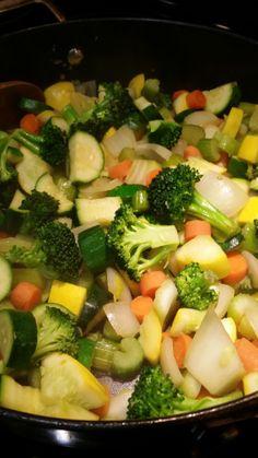 Sauteed vegetables. Vegetales salteados
