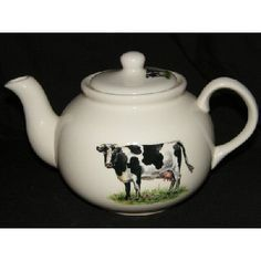 de43ebf4bab BN Large Cream Teapot Traditional Friesian Cow, small size available uk  seller | eBay White