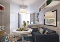 Kis lakás egy egyedülálló hölgynek - egy remek 25nm-es otthon praktikus lakberendezéssel