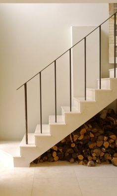 simple stairs / rail .... as long as a child couldn't fall between the banister