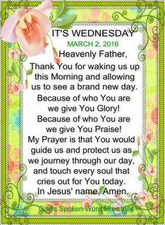 Wednesday Prayer!