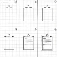 How to draw a clipboard.