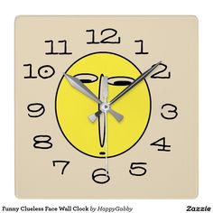 Funny Clueless Face Wall Clock