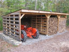 This gave me the idea to build one of these parking barns out of pallets.