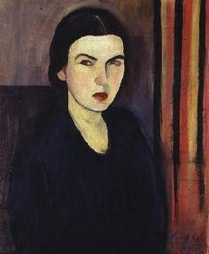 """Sarah Afonso: """"Auto-Retrato"""". Ano: 1927. Local: Coleção particular (Lisboa)."""