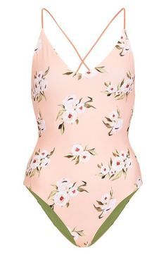 Topshop Posie Reversible One-Piece Swimsuit /