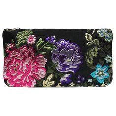 mini portatodo Bolso fallera @ con detalles florales, realizados en tela de seda y cuero. fallera bag with floral pattern. #bag #clutch #bolso http://fallera.com/es/bolsos/bc002010-detail