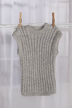 Free Knitting Pattern - Baby Sweaters: Easy Cables Vest