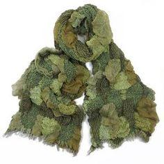 ladies scarf Green Ellen design scarves shawls wrap neck soft fashion Thick
