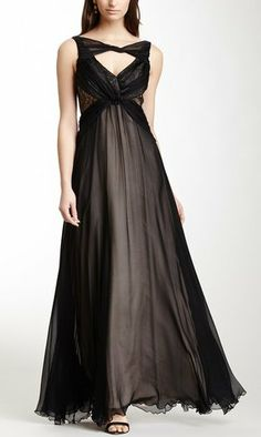 Twisted Neck Drape Silk Gown--- Hmmm... I like the dress, not sure how I feel about the neck thingie...