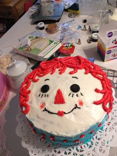 Raggedy Ann cake we made for my sister in law.